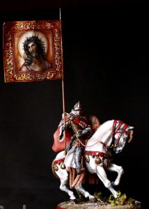 Russian Warrior with a religious standard XIII cc